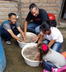 Washing sand for Bio-sand filters