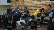 Me sharing at Youth Hope Camp
