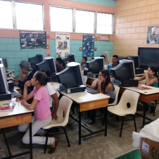 Computer classes with high school students